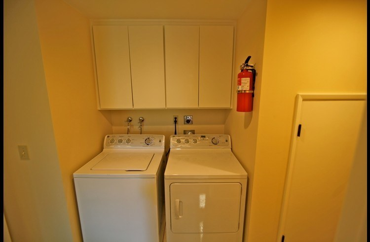 Washer and Dryer in lower level hallway