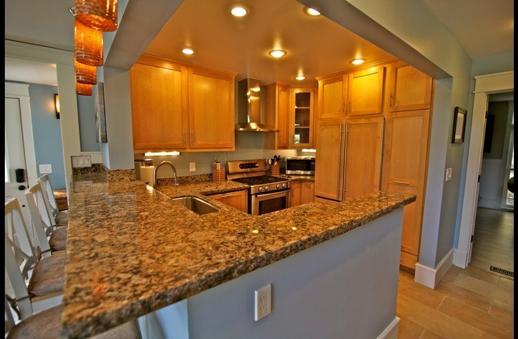 Granite counters throughout kitchen