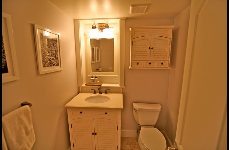 Attached bathroom to guest room