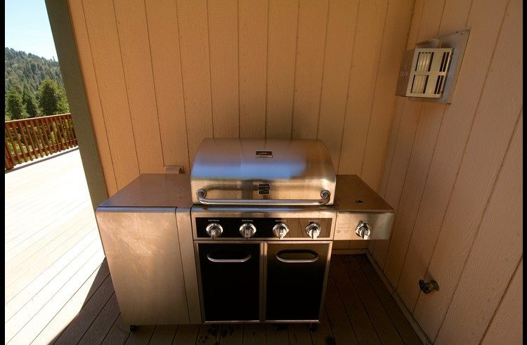 Stainless steel BBQ on the deck