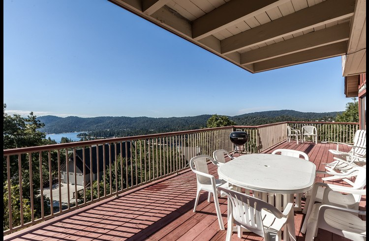 Large deck on the main level with great views