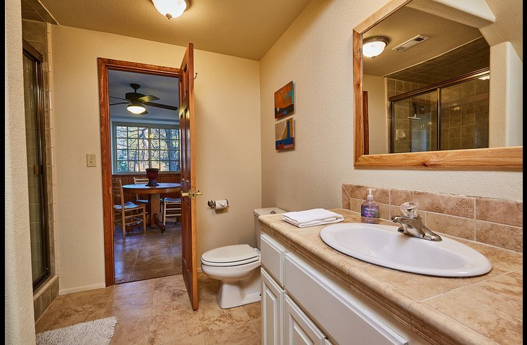 Shared bathroom between master and guest room