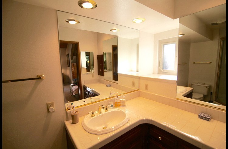 Attached master bathroom