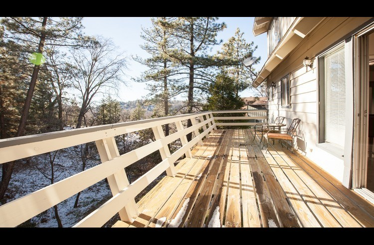 Deck off the main level with great views