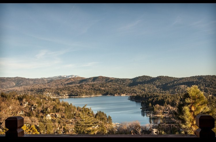 Incredible views of Lake Arrowhead from the decks