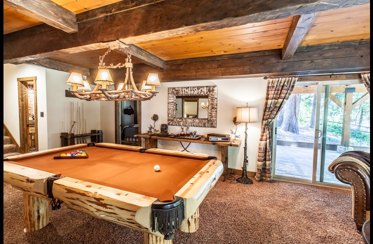 Custom rustic wood pool table