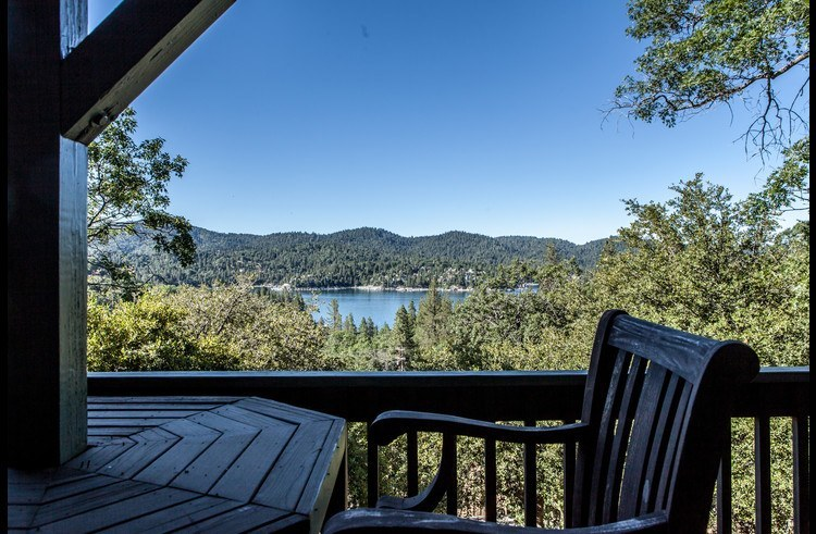 View of Lake Arrowhead from the lower level deck