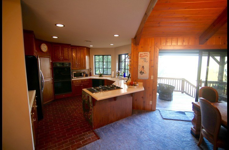 Kitchen open to the dining room