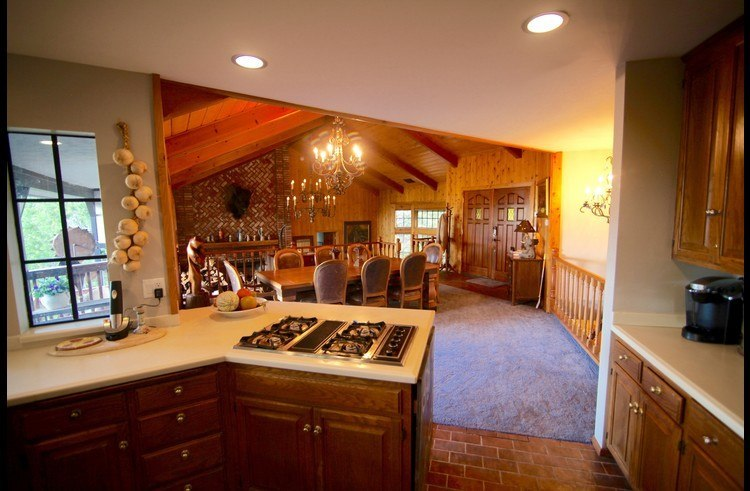 View of dining room from the kitchen