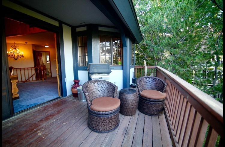 Deck off the dining room and kitchen
