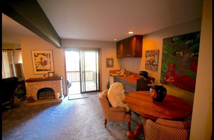 Family room on middle level