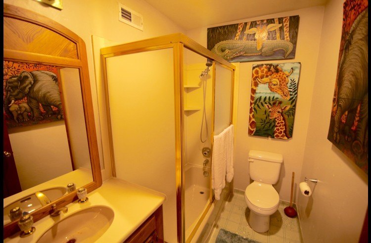 Full bath on middle level