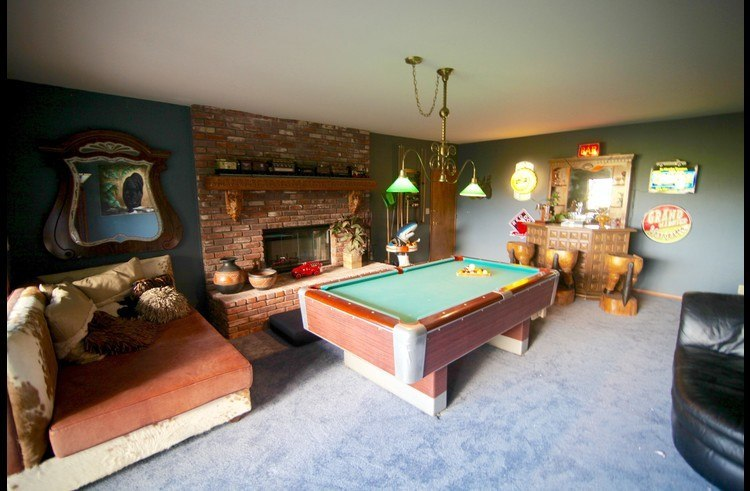 Game room on the lower level