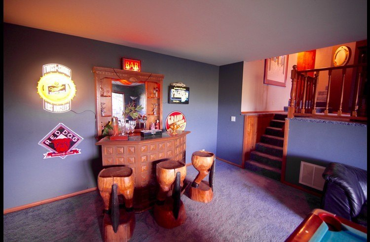 Bar in the game room