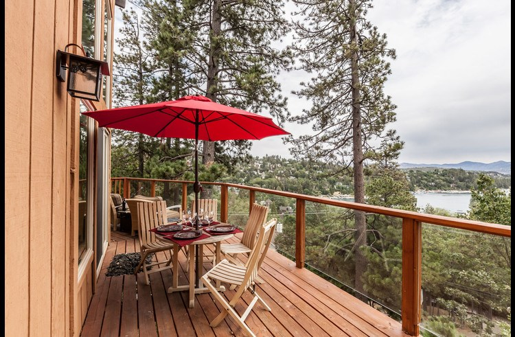 Deck with great views of Lake Arrowhead