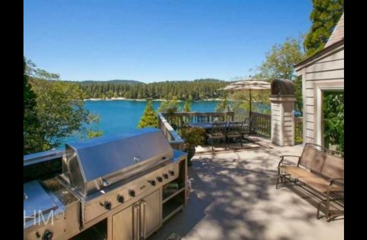 Ultimate entertainment deck with incredible view of Lake Arrowhead