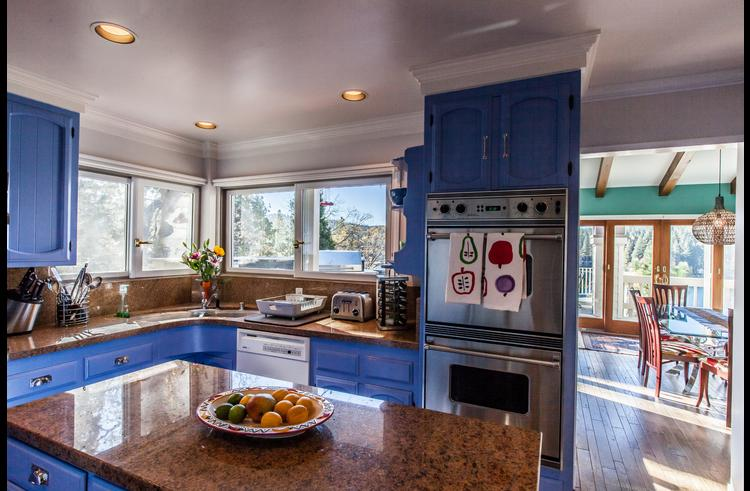 Kitchen with stainless steel Viking appliances