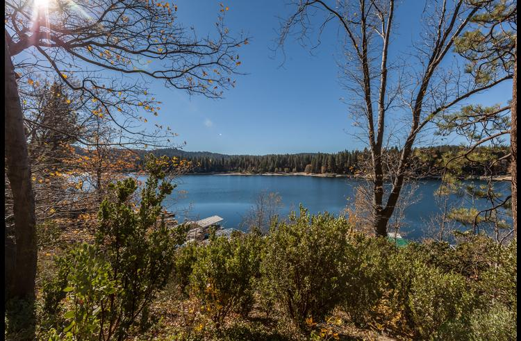 Panoramic views of Lake Arrowhead from the property