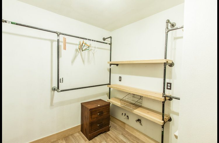 Large master bedroom closet