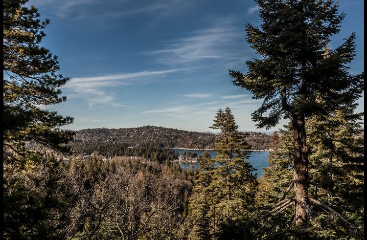 View of Lake Arrowhead from the deck
