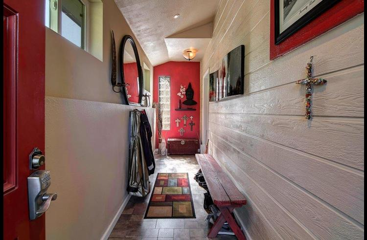Mud room at the entry