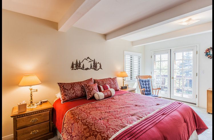 Master bedroom on lower level with king bed