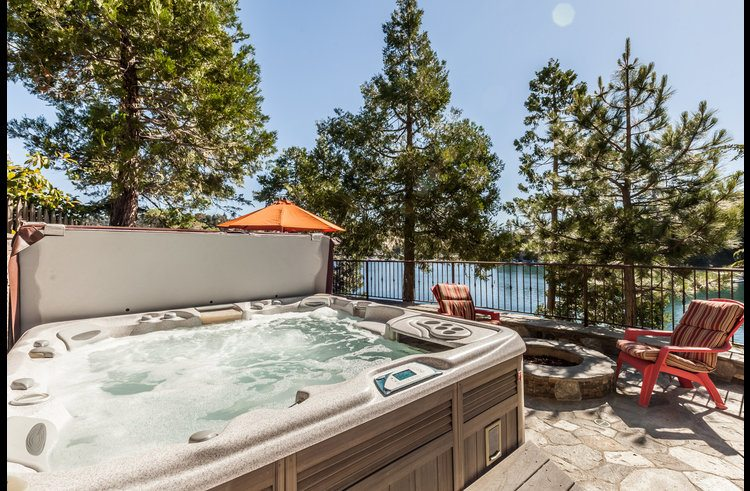 Views of the lake from the hot tub