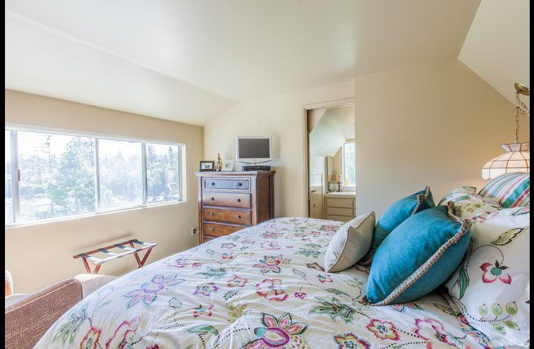 Master bedroom with views of Lake Arrowhead