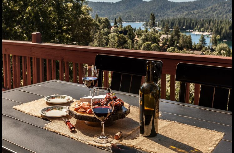 Enjoy entertaining outside with views of Lake Arrowhead