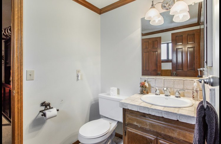 Jack and jill bathroom on upper level