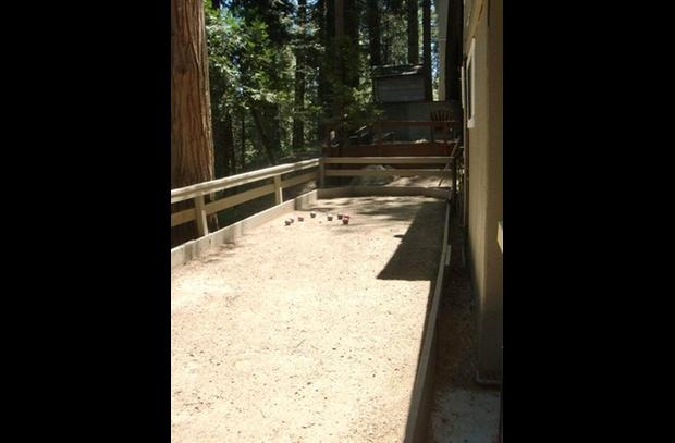 Bocce ball court next to the Tiki Bar