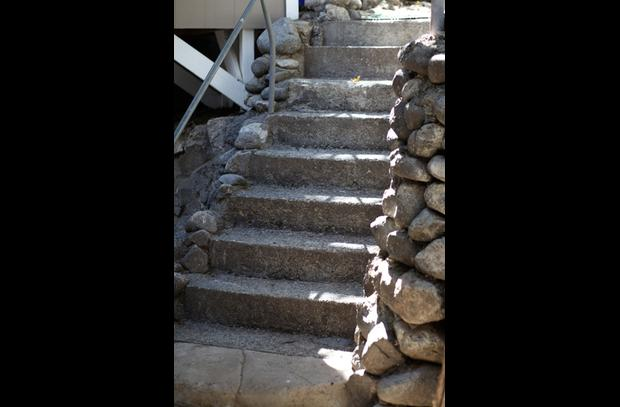 Stairs from street to front door