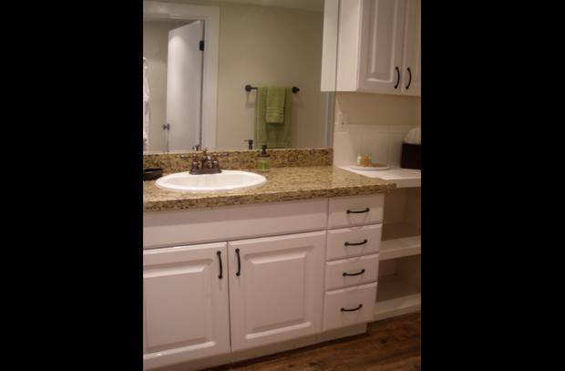 Bathroom vanity with granite counter top