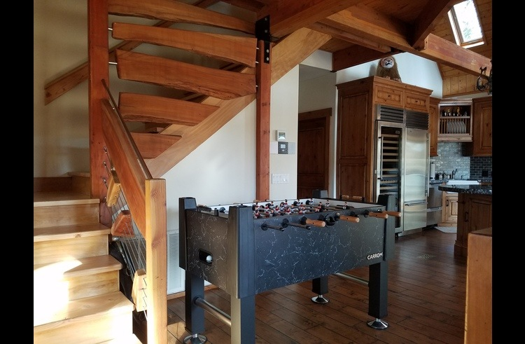 Foosball table on the main level