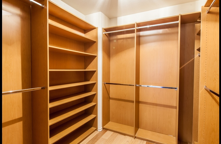 Large walk-in closet in the master suite