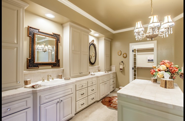 Huge attached master bathroom