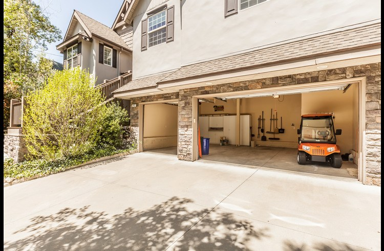 Oversized garage golf cart not included