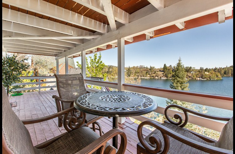 Lower level deck with amazing view of the lake