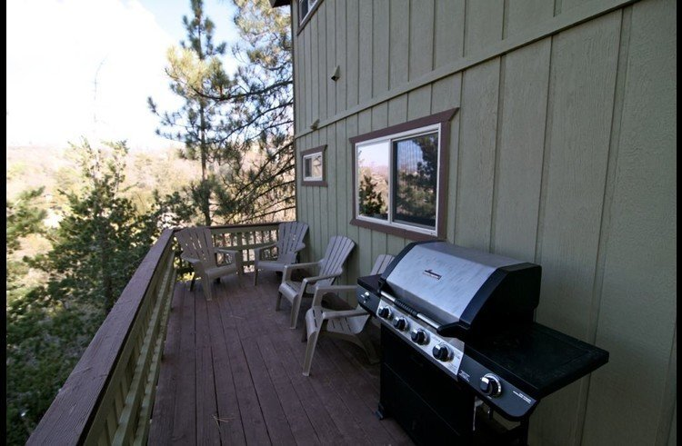 Upper deck off kitchen with propane BBQ