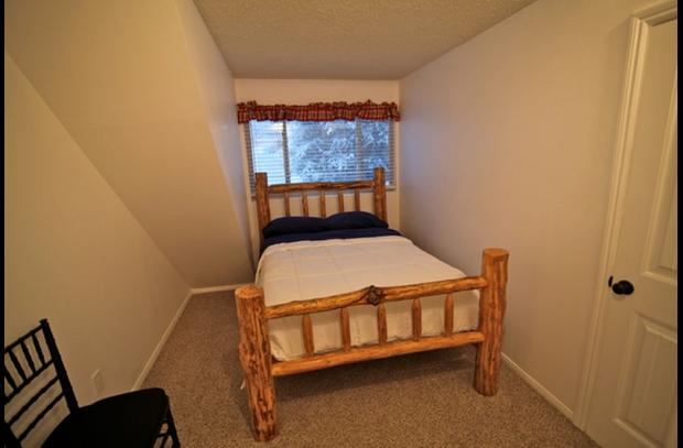 Guest room upstairs with full bed