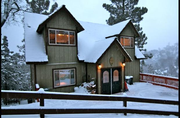 Skyview Lodge during a winter storm