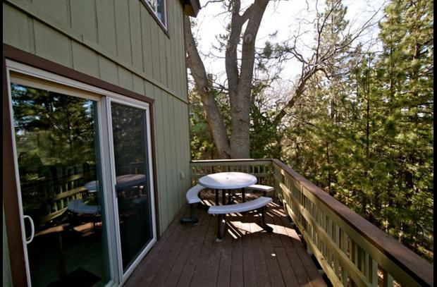 Deck with patio table