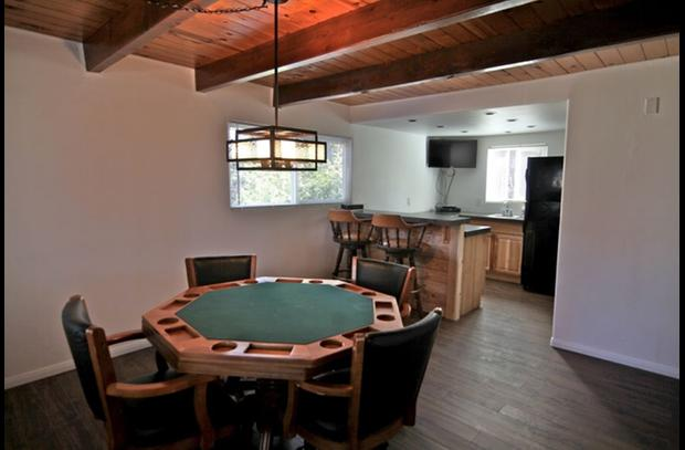 Downstairs game room - poker table/bumper pool