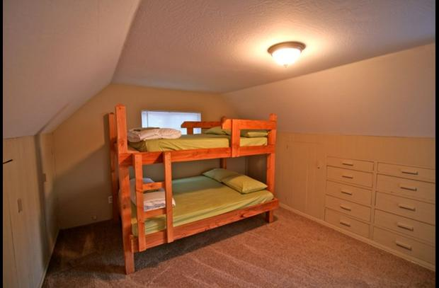 Guest room 1 on upper level - sleeps 4