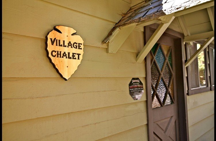 Village Chalet entry