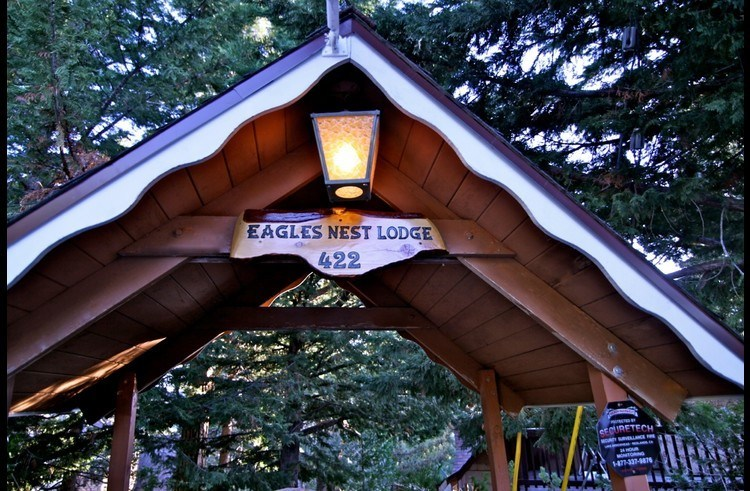 Street entrance to the Eagle's Nest Lodge