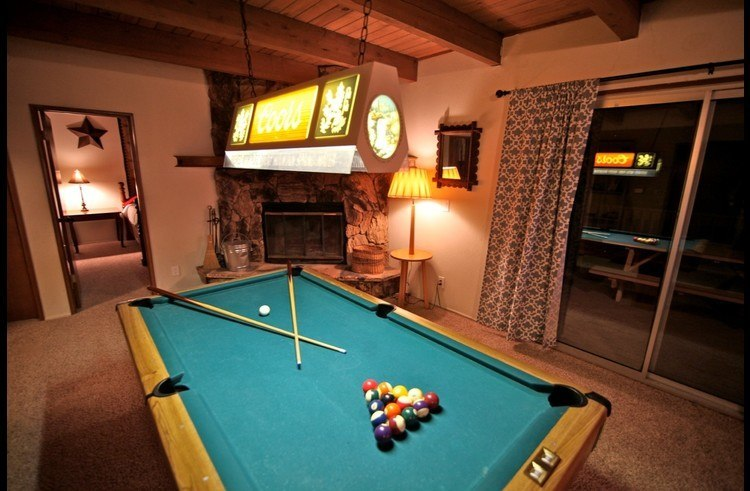 Pool table with Vintage Coors light fixture