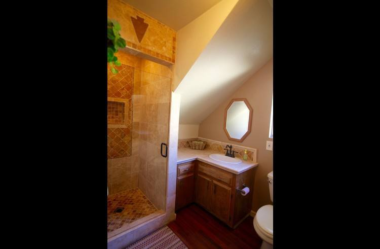 Bathroom on middle level