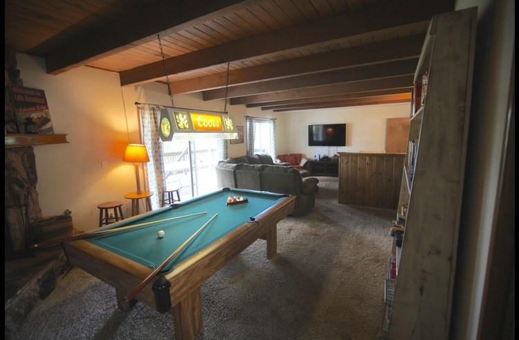 Large game room on middle level