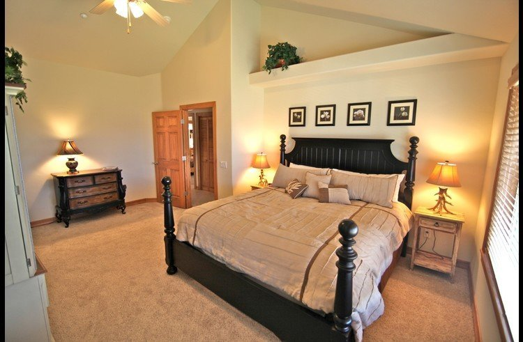 Master suite on upper level with king bed